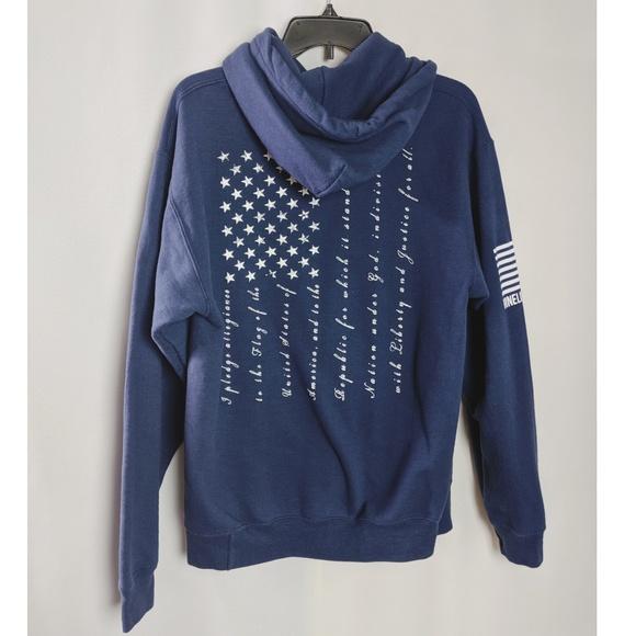 Nine Line Apparel Tops - Nine Line Navy Blue Pledge of Allegiance Hoodie M